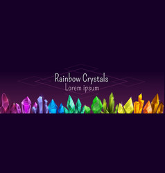 beautiful colorful crystal banner ruemerald vector image