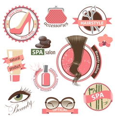 beauty emblems vector image