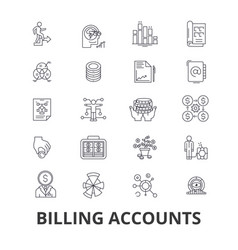 billing accounts paying bill money receipt vector image