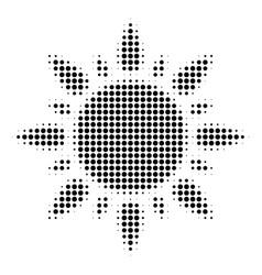 black dot sun icon vector image