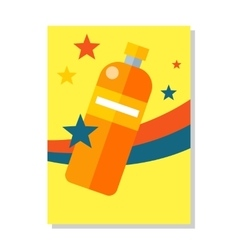 Bottle Icon Symball Colorful Plastic Labble vector
