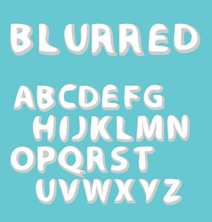 burred label font and sample template design vect vector image