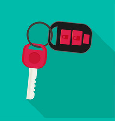 Car rent concept key flat icon vector