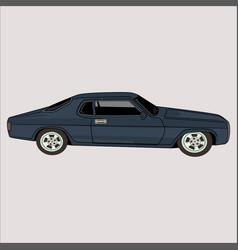 Cartoon car toyota corolla classic retro vintage vector
