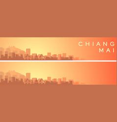 Chiang mai beautiful skyline scenery banner vector