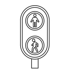 City pedestrian traffic lights icon outline style vector