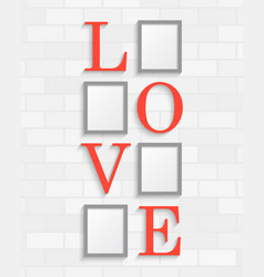 collage four love heart frames or photos vector image