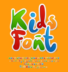 Colorful funny unusual kids font vector