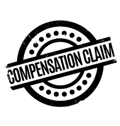 Compensation Claim rubber stamp vector image