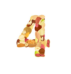 delicious number made from different nuts four vector image