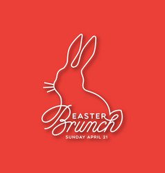 Easter brunch linear lettering vector