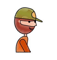 Fisherman with hat avatar character vector