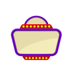 Flat icon of signboard with purple frame vector