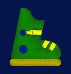 Flat shading style icon ski boots vector