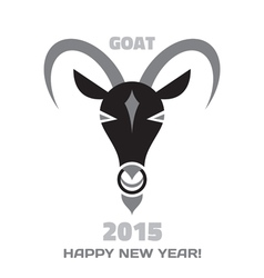 Goat logo - Merry Christmas and Happy New Year vector image