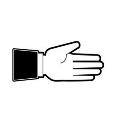 hand open symbol vector image