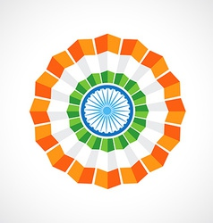 indian flag badge vector image