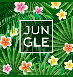 jungle poster textile print vector image