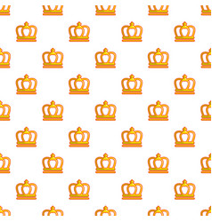 king crown pattern seamless vector image