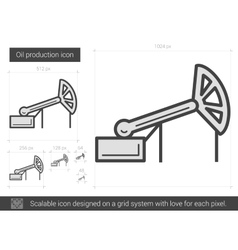 Oil production line icon vector