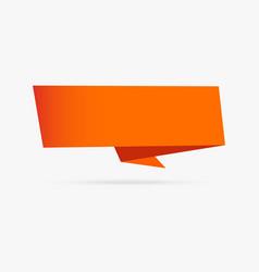 orange banner origami ribbon paper infographic vector image