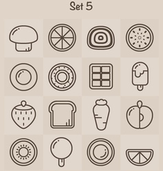 Outline Icons Set 5 vector image vector image