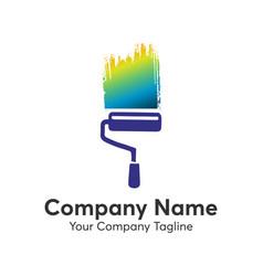 Paint brush logo vector