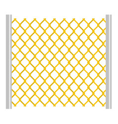 Perforated gate icon isolated vector