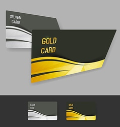 Premium gold silver member card collection vector