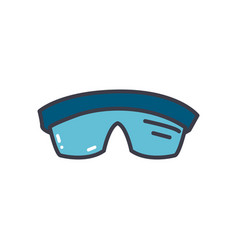 Protection goggles icon flat style vector