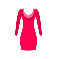 red dress with round collar made from cotton wool vector image