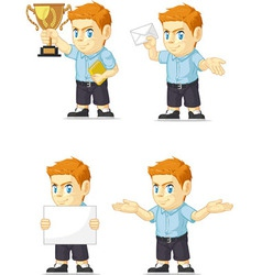 Red Head Boy Customizable Mascot 2 vector image