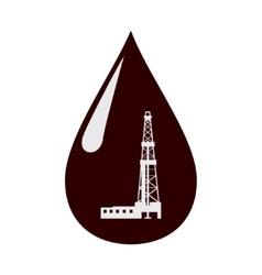 Rig in a drop of oil vector image