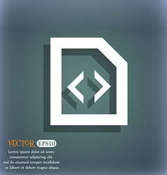 Script icon symbol on the blue-green abstract vector image vector image