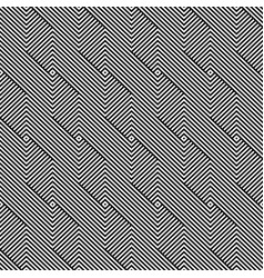 seamless weave geometric pattern - black vector image