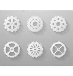 Set of paper gears vector image