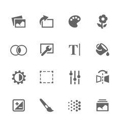 Simple Image Settings Icons vector image