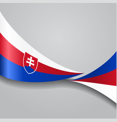 Slovak wavy flag vector