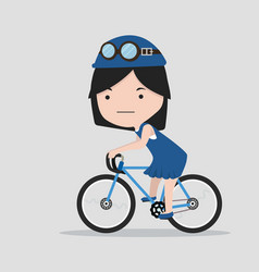 small girl with a bicycle vector image