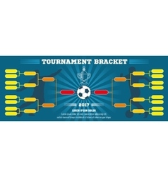 Soccer banner European football tournament vector image