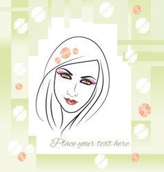 Spring girl background vector