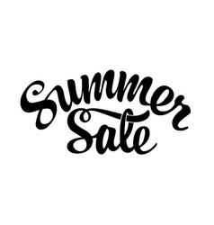 summer sale black lettering on white background vector image