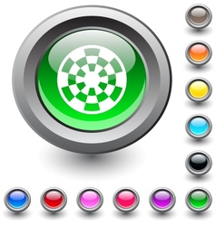 Target round button vector image