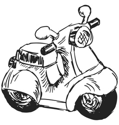 Toy scooter vector