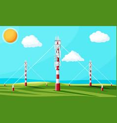 Transmission cellular tower antenna landscape vector