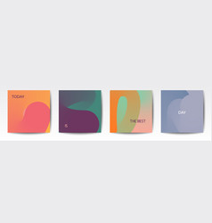 Trendy social media abstract template vector
