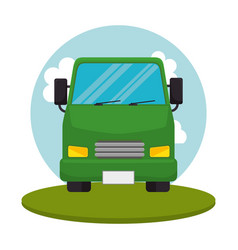 Truck transport vehicle icon vector
