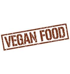 vegan food stamp vector image vector image