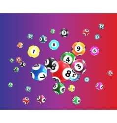 victory ball for game lottery jack pot vector image