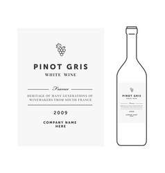white wine label premium template clean vector image